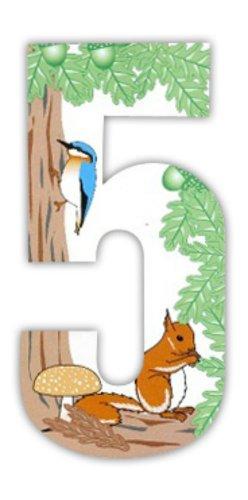 *Mülltonnenaufkleber, Nummern, Eichhörnchenmotiv*