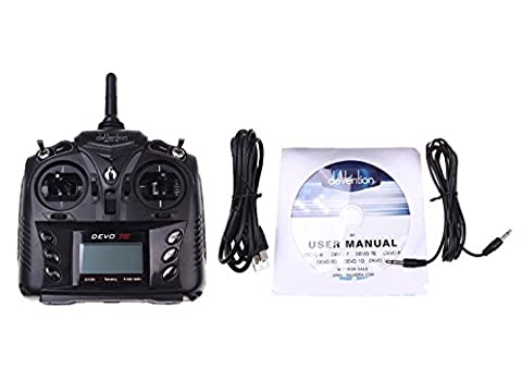 RC Aeroplane & Helicopter Walkera DEVO 7E 2.4G 7CH Transmitter with DSSS format and 701 Receiver Radio Control Transmitter American Hand (Left Hand