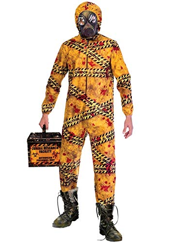Amscan Mens Halloween Quarzentine Biohazard Zombie Kostüm M/L (Chest 40-42