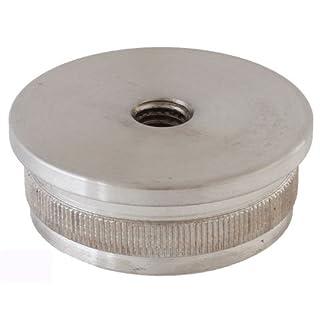 Endkappe (Hohlkappe) in flacher Ausführung für Rohr 42,4/2,0 mm mit M8-Gewinde (S011085)