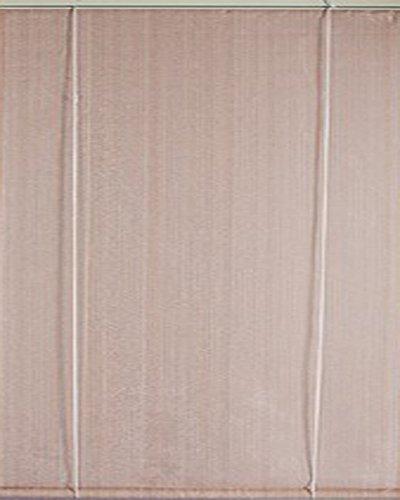 Voile d'ombrage verticale à enrouleur Sable Ajouré en polyéthylène tressé 165 g / m² anti-UV, 100 x 180 cm -PEGANE-