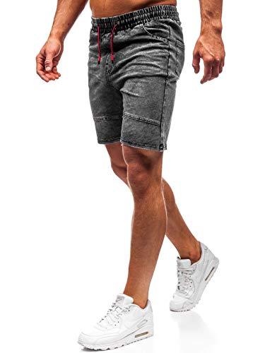 42d40ab2a BOLF Hombre Pantalón Corto Pantalones Vaqueros Denim Regular Pantalón de  Algodón J.Style KK105 Gris Grafito XXL [6F6]