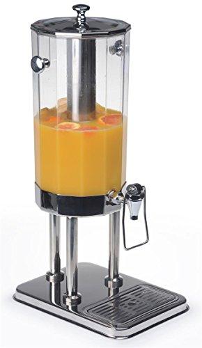 Displays2go dispensador de bebida con trampa palanca de empuje dispensador de mesa bebidas servidor incluye ice-filled Core y bandeja de goteo, 2-gal, acero inoxidable