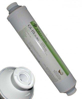 Pentek In-line-filter (pH Stabilizer Inline Filter Pentek GS-10 CAL/RO, Fittinge wählen:1/4 Zoll Rohr für Kupplung)