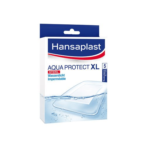 HANSAPLAST Aqua Protect XL Pflaster 6x7 cm 5 St Pflaster