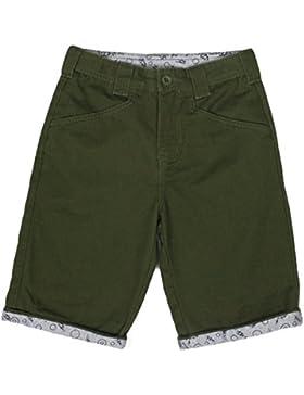 Bienzoe Jungen Baumwolle Köper Einstellbar Taille Short