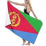 Elsaone Asciugamani da Spiaggia Bandiera Eritrea Asciugamano da Spiaggia Grande Asciugamano da Bagno Ultra Morbido e Altamente Assorbente Oversized 32 x 52 Pollici