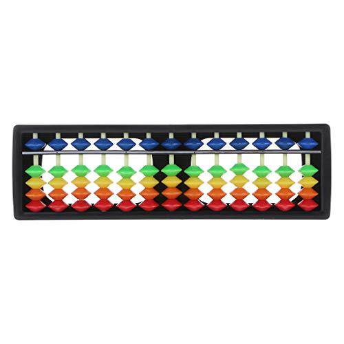 Luohuifang – 13 Säulen tragbar Kunststoff Abacus arithmetisch Soroban Taschenrechner mit bunten Perlen Kinder Lernspielzeug – Experimentelle Lehrhilfe