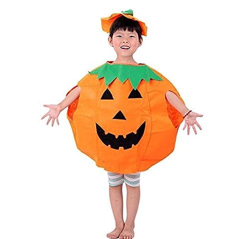 valink Unisex Kinder Jungen Mädchen Halloween Fancy Kleid Outfit Kleidung Smile Muster orange Kürbis Kleidung Cosplay Party Kleid bis Masquerade Dekoration Kostüm Jumpsuits für Kinder (Familie Halloween-kostüme Mit Baby)