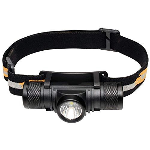 M-zmsdt Scheinwerfer LED Scheinwerfer Super Bright Premium USB wiederaufladbare Stirnlampe Wasserdichtes Design - 5 Modi Komfortable Beste Ausrüstung Lampe Nacht Laufen Camping Taschenlampe Kinder