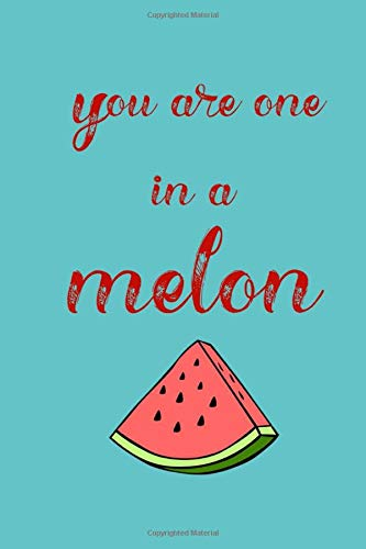 You are one in a melon: Watermelon blue green funny slogan paperback lined notebook jotter