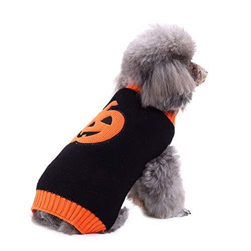 CHIYEEE Weihnachtspullover für Hunde und Katzen Weihnachten Hundepullover Warm Hundepulli Winter Strickpullover Sweater L (Yoda Kostüm Für Katzen)