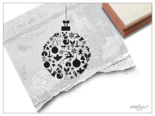 Stempel Weihnachtsstempel CHRISTBAUMKUGEL - Festlicher Bildstempel Weihnachten Karten Weihnachtsdeko - zAcheR-fineT