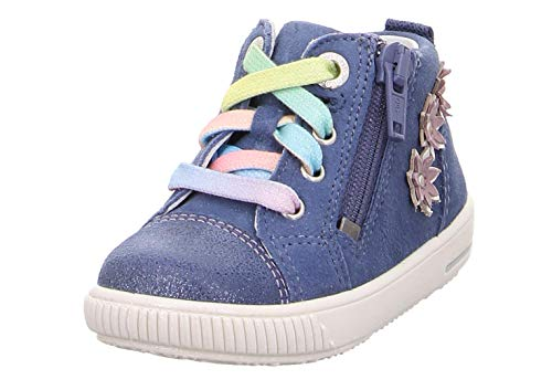 Superfit Baby Mädchen Moppy Sneaker Blau 80, 24 EU