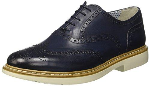 Docksteps Business, Scarpe Stringate Basse Brogue Uomo Blu (Dark Blue)