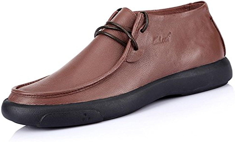 Gli uomini le le le scarpe di cuoio cuoio mens casuale occasionale pop europei in scarpe comode,caffe ',43 | Nuove Varietà Vengono Introdotti Uno Dopo L'altro  | Maschio/Ragazze Scarpa  ac87ce