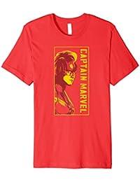 Marvel Captain Marvel Carol Danvers Mohawk Profile T-Shirt