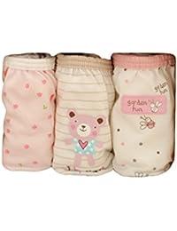 Haodasi 3pcs Organic Cotton Children Fashion underwear ropa interior Baby Bebé boys/Girls Cute Cartoon Girl Baby Bebé Bee #75: Age for 7-9 years(130cm)