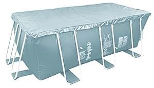 Jilong Pool-Abdeckung rechteckig Abdeckplane für Frame Pool Gr. 394x207 bis 404x201 cm Stahlrohr Schwimmbecken Stahlrahmen Schwimmbad Cover