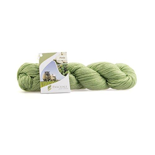 Pascuali Sockenwolle 'Pinta', Superwash, 425 m, 100g, Häkelwolle Wiesen-Grün 17 -
