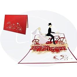 LIN Pop Up Biglietti di Matrimonio Inviti, matrimonio Valentin Karten 3d biglietti di auguri, biglietti di auguri Amore…