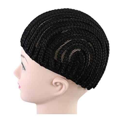 GROOMY Schwarze Haarnetzkappe Cornrow Perücke zur Herstellung von Häkelgarngeflechtgeflechtkappen-Maschennetz -