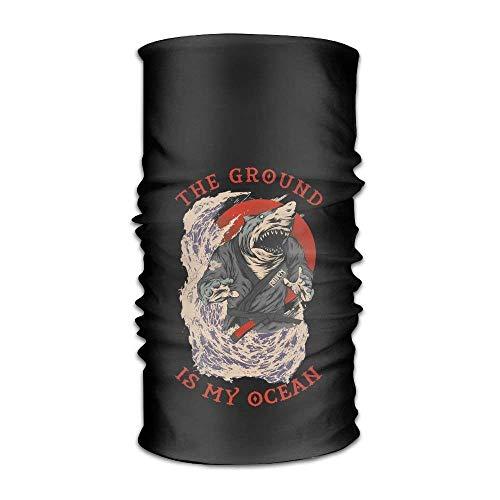 The Ground Is My Ocean Headwear For Men And Women-Yoga Sports Travel Workout Wide Headbands,Neck Gaiter,Bandana,Helmet Liner,Balaclava,Hair Turban,Scarf