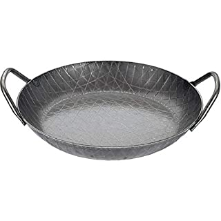 Turk Serving Pan with Grip, Iron, Black, 7 x 5 x 28 cm