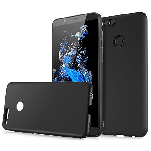 Custodia Honor 7X, Angozo Ultrasottile Leggera Case Anti-impronta Antigraffio Protettiva Hard Cover Plastica Dura Shell for Huawei Honor 7X, Nero