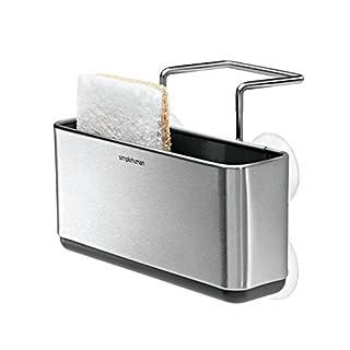 Simplehuman KT1134 Waschbecken Caddy Küchenutensilienhalter gebürsteter Edehlstahl