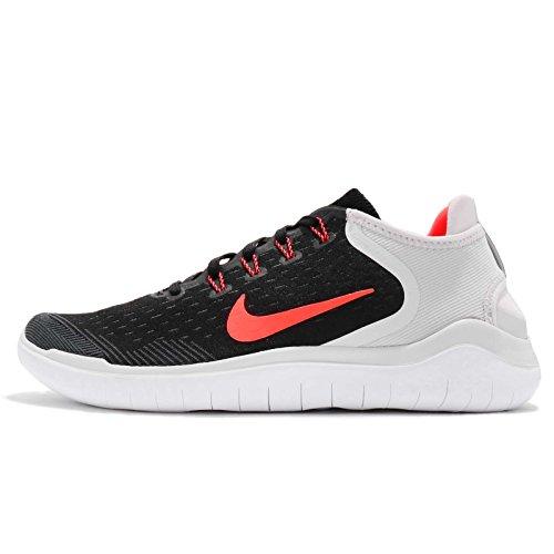 Nike Herren Laufschuh Free Run 2018, Schwarz (Black/Total Crimson-005), 45 EU (Nike Schuhe Herren Free Run)