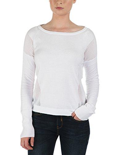 Bench Damen Pullover Strickpullover Makeapoint weiß (Brightwhite) Large