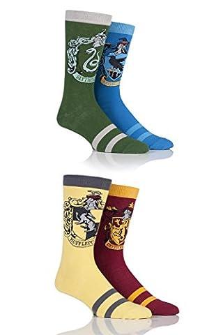 Hommes 4 paires Harry Potter Maison Insignes Socks Assorted 6-11 Mens