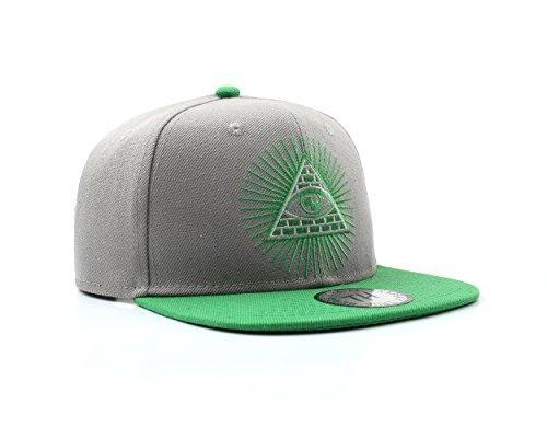 True Heads Illuminati Grey and Green Secret Society Snapback Baseball Cap