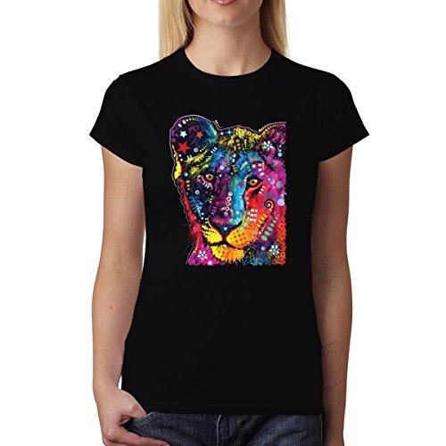 Dean Russo Junger Löwe Damen T-shirt XS-2XL Neu Schwarz