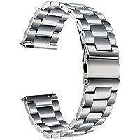 TRUMiRR 18 millimetri cinturino dell'acciaio inossidabile cinturino a sgancio rapido per Huawei Watch, Asus ZenWatch 2 WI502Q femminile, Withings Activite / Acciaio / Pop