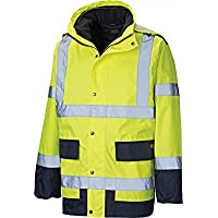 Dickies Bicolore 3 in 1 giacca Hi Vis impermeabile, interno in pile
