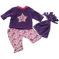 Handarbeit Puppenkleidung 48 cm passend für zb Chou Chou , Annabell Bekleidung Kleidung 49a