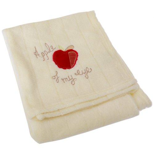 Couverture de poussette unisexe douce Apple of My Eye pour bébé (80cm x 100cm) (Crème)