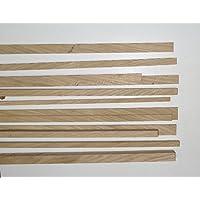 10 Bastelleisten Vierkantstäbe Eiche 1 Meter lang, sägerau, Modellbauleisten 20 x 8mm
