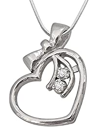 Surat Diamonds .925 Sterling Silver and Diamond Pendant