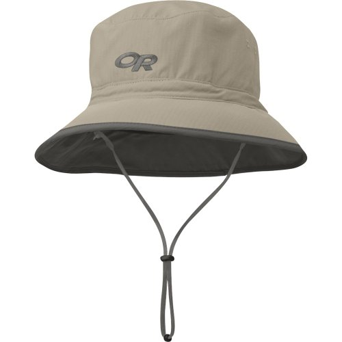 Outdoor Research Sonnenhut, Damen Herren, Sun Bucket, 808-Khaki/Dark Grey, Medium