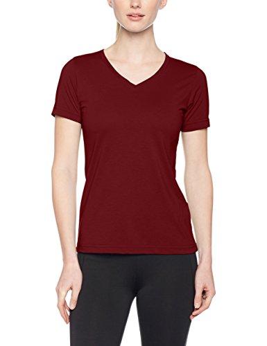 JAMES & NICHOLSON Ladies' Workwear, T-Shirt Femme Rot (Wine)