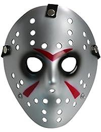 Landisun Costume Prop Horreur Masque de hockey Jason VS. Freddy Friday the 13th Halloween Myers