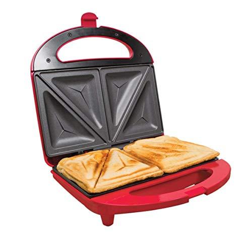 81e5c936132 Unibos Kitchen Electric 2 Slice Sandwich Toast Toaster Maker Sandwich Press  Red 700 Watts Non Stick