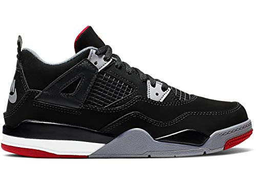 Nike Jordan 4 Retro (Ps) - black/fire red-cement grey-summit w, Größe:12.5C (Jordan Retro 4 Große Kinder)