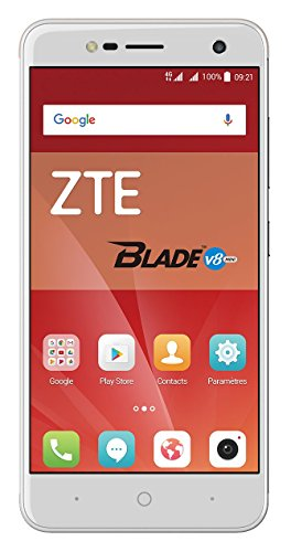 ZTE Blade V8 Mini Smartphone (12,7 cm (5 Zoll) Display, 16 GB Speicher, Dual-Sim, Android 7.0) Silber