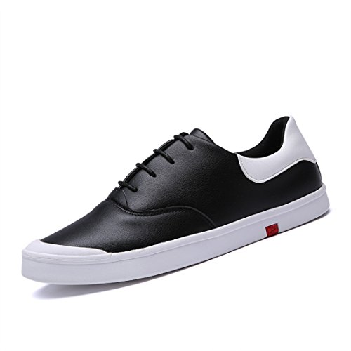 Men's Leather Flats Comfortable Teenagers Skateboarding Shoes 2331