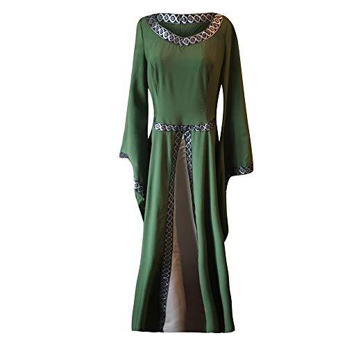 Sasstaids Kleide Damen Mittelalter Kleider Viktorianischen Königin Kleid Cosplay Kostüm Langarm Kleid-Gothic Jahrgang Prinzessin Renaissance Bodenlänge