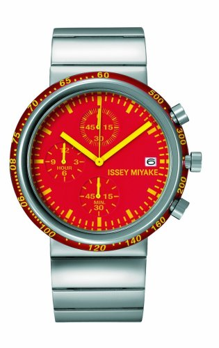 Issey Miyake Trapezoid Silaq 371LAQ003 - Reloj de Caballero de Cuarzo, Correa de Acero Inoxidable Color Plata